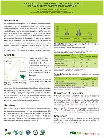 Vulnérabilité aux changements climatiques et revenu Des communautés forestieres au Cameroun