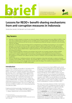 Lessons for REDD+ benefit-sharing mechanisms from anti-corruption measures in Indonesia