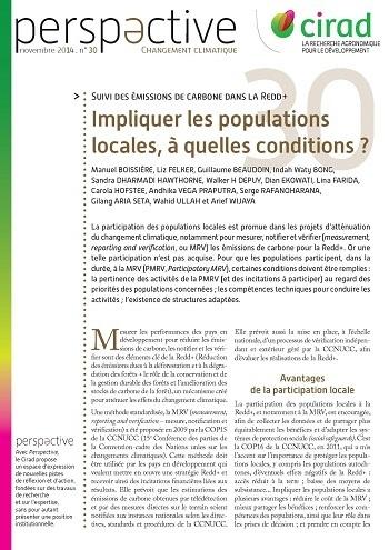 Suivi des émissions de carbone dans la REDD+: Impliquer les populations locales, à quelles conditions ?