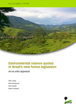 Environmental reserve quotas in Brazil's new forest legislation: An ex ante appraisal