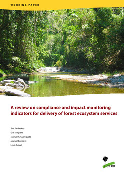 A review on compliance and impact monitoring indicators for delivery of forest ecosystem services