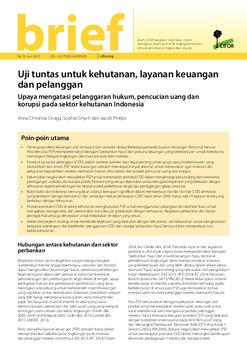 Uji tuntas untuk kehutanan, layanan keuangan dan pelanggan: Upaya mengatasi pelanggaran hukum, pencucian uang dan korupsi pada sektor kehutanan Indonesia