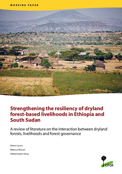 Strengthening the resiliency of dryland forest-based livelihoods in Ethiopia and South Sudan: A review of literature on the interaction between dryland forests, livelihoods and forest governance