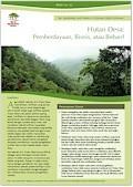 Hutan Desa: Pemberdayaan, Bisnis, atau Beban?