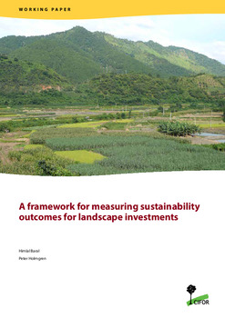 A framework for measuring sustainability outcomes for landscape investments