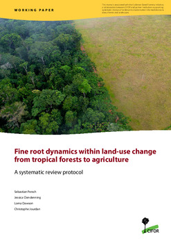 Fine root dynamics within land-use change from tropical forests to agriculture: A systematic review protocol