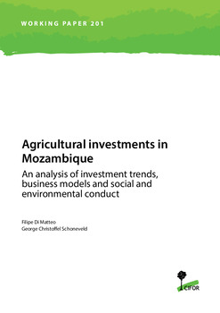 Agricultural investments in Mozambique: An analysis of investment trends, business models and social and environmental conduct