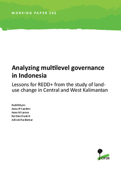 Analyzing multilevel governance in Indonesia: Lessons for REDD+ from the study of landuse change in Central and West Kalimantan