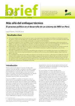 Más allá del enfoque técnico: El proceso político en el desarrollo de un sistema de MRV en Perú