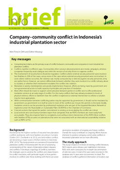 Company-community conflict in Indonesia's industrial plantation sector