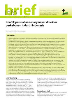 Konflik perusahaan-masyarakat di sektor perkebunan industri Indonesia