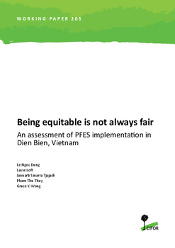 Being equitable is not always fair: An assessment of PFES implementation in Dien Bien, Vietnam