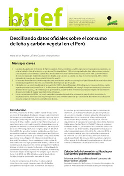Descifrando datos oficiales sobre el consumo de leña y carbón vegetal en el Perú