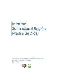 Informe Subnacional Región Madre de Dios