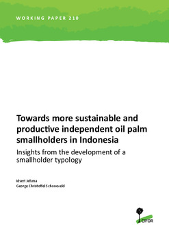 Towards more sustainable and productive independent oil palm smallholders in Indonesia: Insights from the development of a smallholder typology