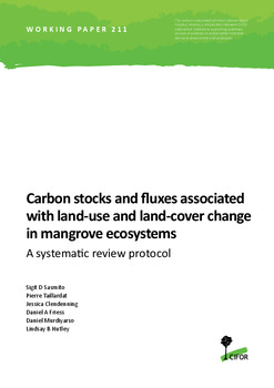 Carbon stocks and fluxes associated with land-use and land-cover change in mangrove ecosystems: A systematic review protocol