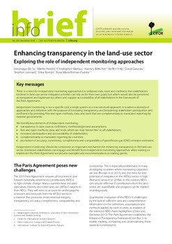 Enhancing transparency in the land-use sector: Exploring the role of independent monitoring approaches