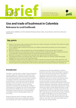 Use and trade of bushmeat in Colombia: Relevance to rural livelihoods