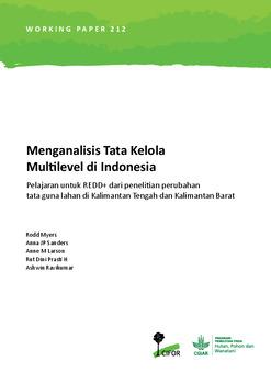 Menganalisis Tata Kelola Pemerintahan Multilevel di Indonesia: Pelajaran untuk REDD+ dari penelitian perubahan tata guna lahan di Kalimantan Tengah dan Kalimantan Barat