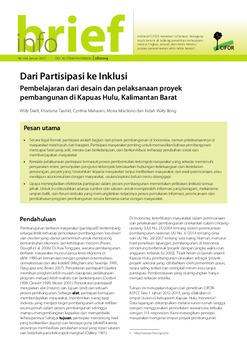 Dari partisipasi ke inklusi: Pembelajaran dari desain dan pelaksanaan proyek pembangunan di Kapuas Hulu, Kalimantan Barat
