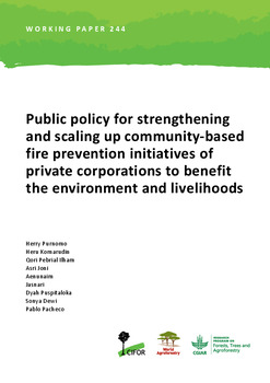 Public policy for strengthening and scaling up community-based fire prevention initiatives of private corporations to benefit the environment and livelihoods