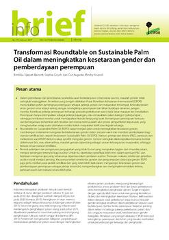 Transformasi Roundtable on Sustainable Palm Oil dalam meningkatkan kesetaraan gender dan pemberdayaan perempuan