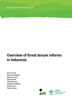 Overview of forest tenure reforms in Indonesia