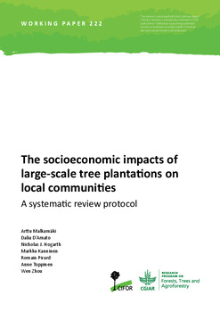 The socioeconomic impacts of large-scale tree plantations on local communities: A systematic review protocol