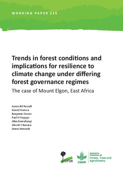 Trends in forest conditions and implications for resilience to climate change under differing forest governance regimes: the case of Mount Elgon, East Africa