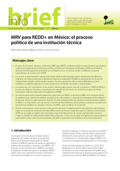 MRV para REDD+ en México: el proceso político de una institución técnica