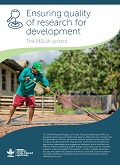 Ensuring quality of research for development: The MELIA system