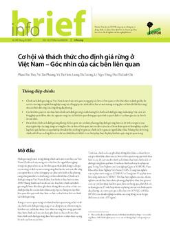 Cơ hội và thách thức cho định giá rừng ở Việt Nam – Góc nhìn của các bên liên quan