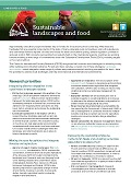 Sustainable landscapes and food