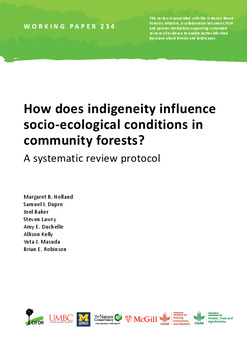 How does indigeneity influence socio-ecological conditions in community forests?: A systematic review protocol