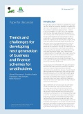 Trends and challenges for developing next generation of business and finance schemes for smallholders