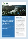 Zero deforestation and low emissions development: Public and private institutional arrangements under jurisdictional approaches