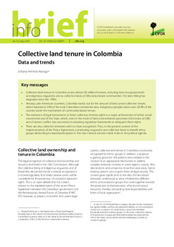 Collective land tenure in Colombia: Data and trends