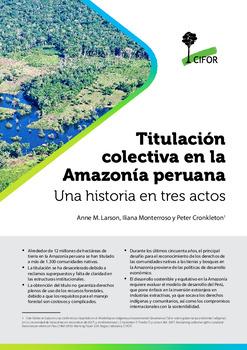 Titulación colectiva en la Amazonía peruana: Una historia en tres actos