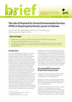 The role of Payment for Forest Environmental Services (PFES) in financing the forestry sector in Vietnam