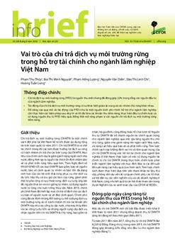 Vai trò của chi trả dịch vụ môi trường rừng trong hỗ trợ tài chính cho ngành lâm nghiệp Việt Nam