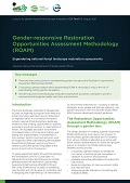 Gender-responsive Restoration Opportunities Assessment Methodology (ROAM): Engendering national forest landscape restoration assessments