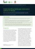 Understanding landscape restoration options in Kenya: Risks and opportunities for advancing gender equality