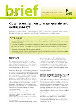 Citizen scientists monitor water quantity and quality in Kenya