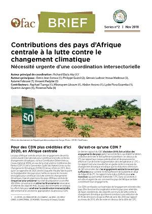 OFAC-Brief : Contributions des pays d'Afrique centrale à la lutte contre le changement climatique : Nécessité urgente d'une coordination intersectorielle