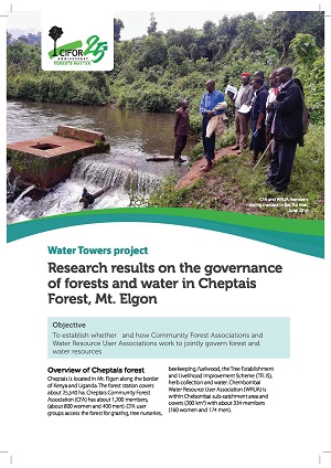 Preliminary research results on the governance of forests and water in Cheptais Forest, Mt. Elgon