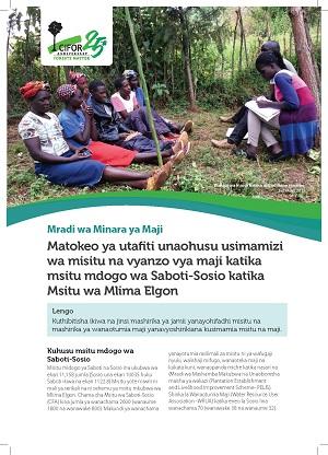 Matokeo ya utafiti unaohusu usimamizi wa misitu na vyanzo vya maji katika msitu mdogo wa Saboti-Sosio katika Msitu wa Mlima Elgon