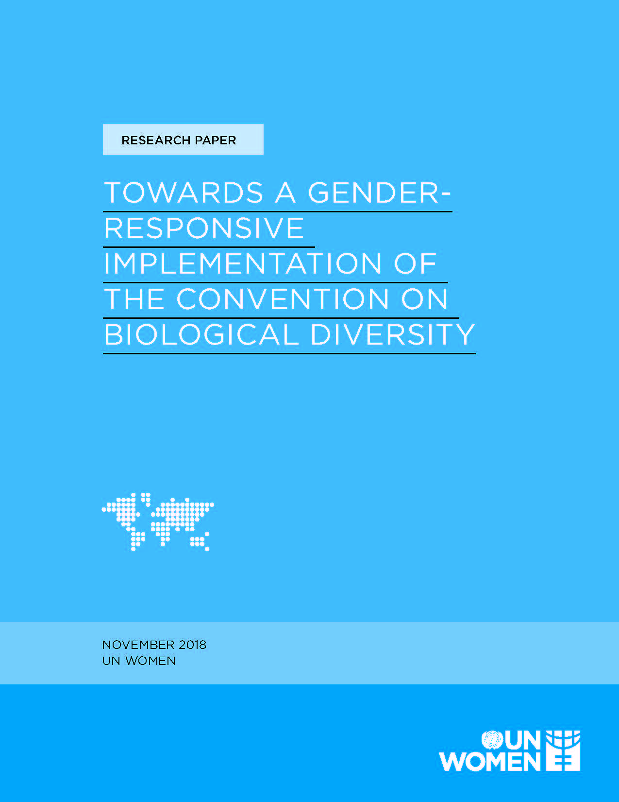 Towards a gender-responsive implementation of The Convention on Biological Diversity