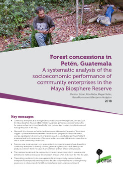 Forest concessions in Petén, Guatemala: A systematic analysis of the socioeconomic performance of community enterprises in the Maya Biosphere Reserve