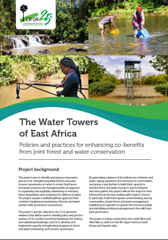 The Water Towers of East Africa: Policies and practices for enhancing co-benefits from joint forest and water conservation