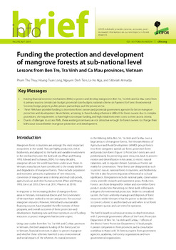 Funding the protection and development of mangrove forests at sub-national level: Lessons from Ben Tre, Tra Vinh and Ca Mau provinces, Vietnam